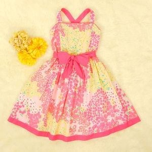 Lily Pulitzer Girl Size 10 Floral Strawberry Dress